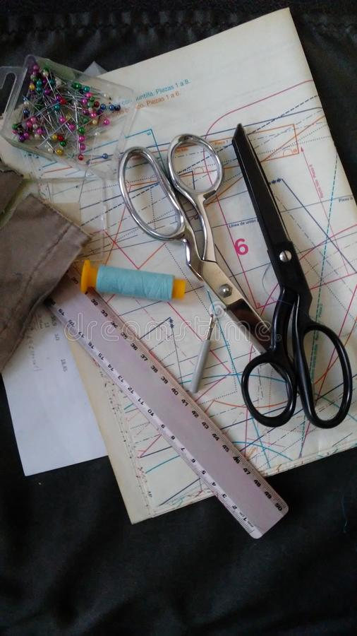 hobby sewing scissors stock photography