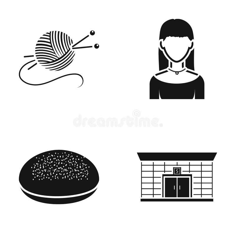 Hobbyer, matlagning och eller rengöringsduksymbol i svart stil yrke finanssymboler i uppsättningsamling stock illustrationer