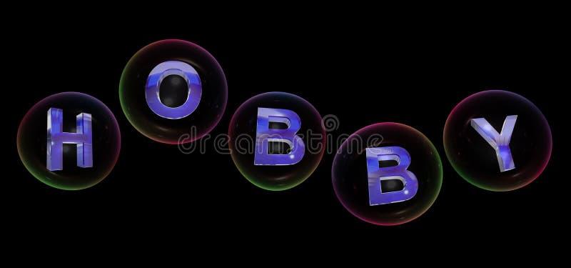 Hobbyordet i bubbla stock illustrationer