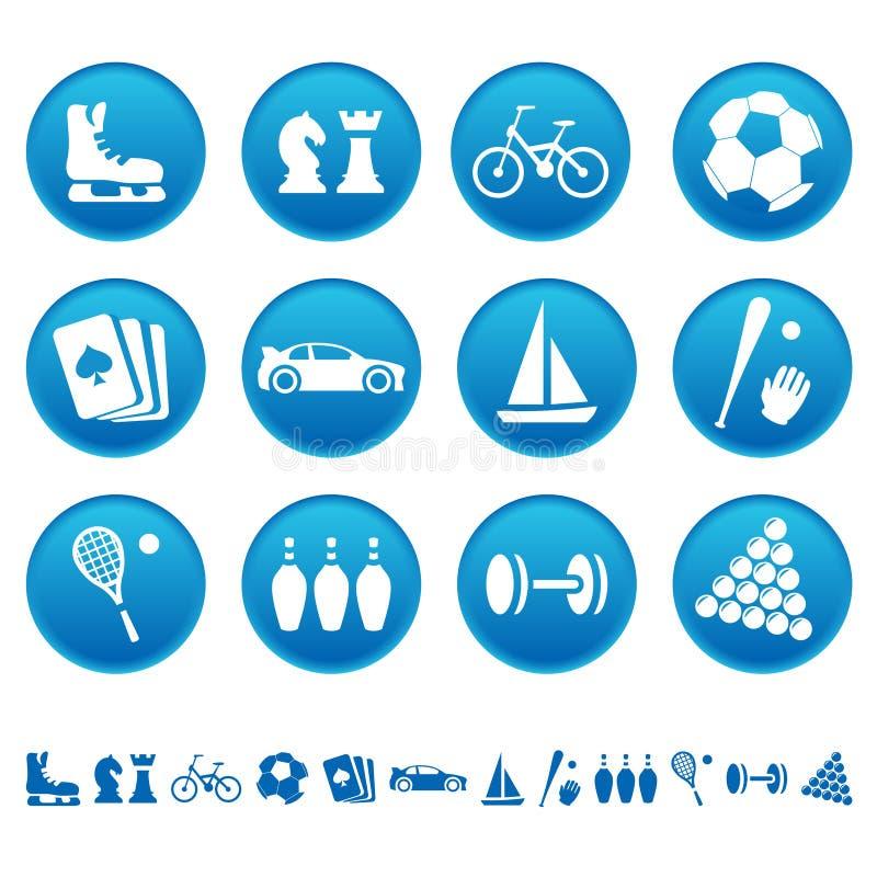 hobbysymbolssport vektor illustrationer