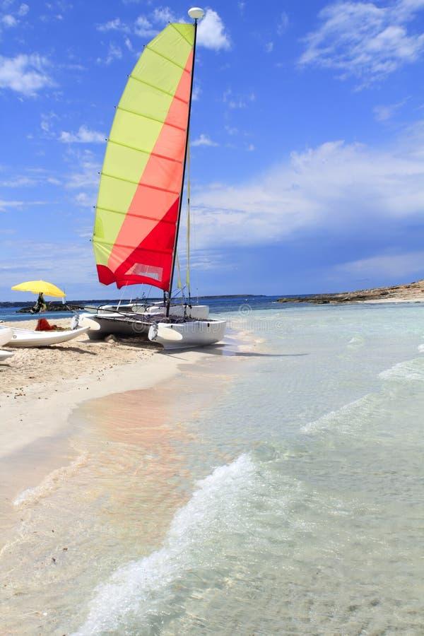 Download Hobie Cat Catamaran Formentera Beach Illetas Stock Photo - Image of ibiza, balearic: 15433792