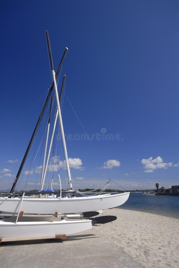 Download Hobie Catamarans At The Beach Stock Image - Image: 3764051