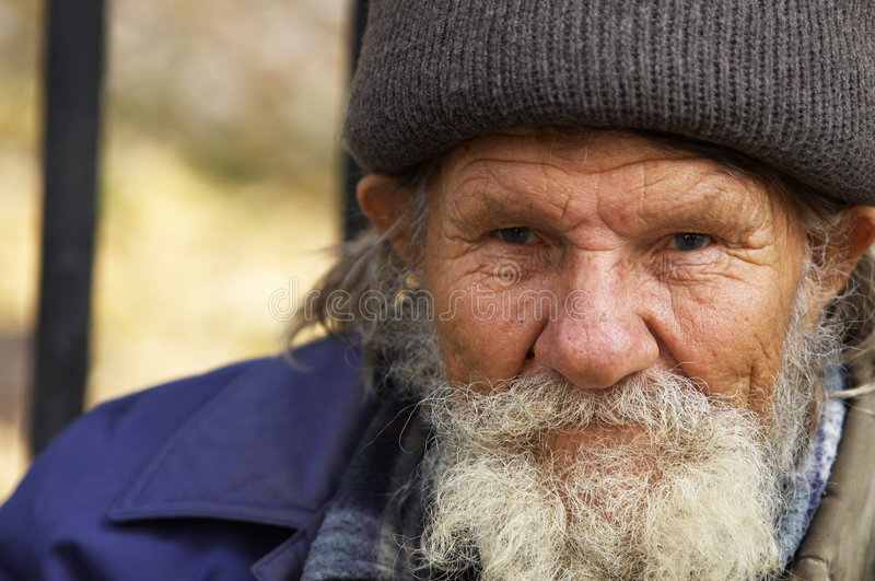 Hobo man stock photography