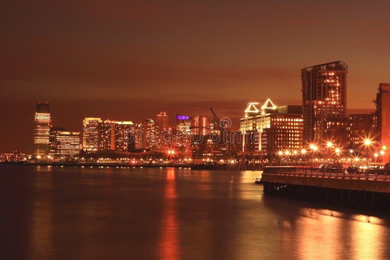 Hoboken in Night stock photos
