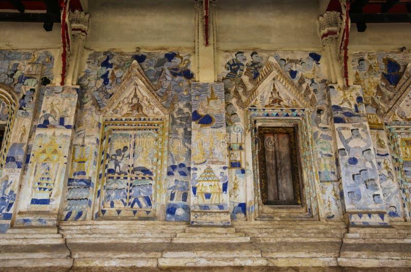 Hobtam sim esan bij Wat-sawatee , Khonkaen Thailand , Esan-stijl p royalty-vrije stock afbeelding