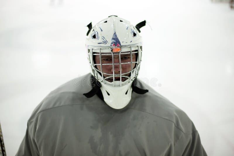 hoceky игрок льда стоковая фотография rf