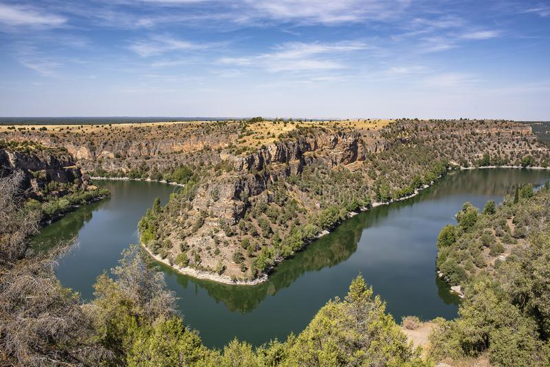 Hoces Del Duraton, Segovia Spanien lizenzfreies stockbild