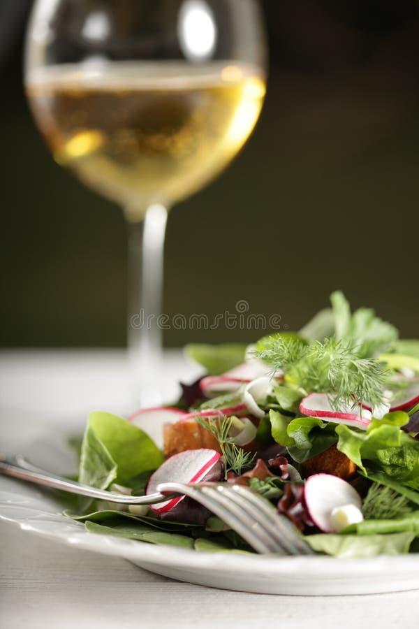Hoch entwickelter Salat stockfoto