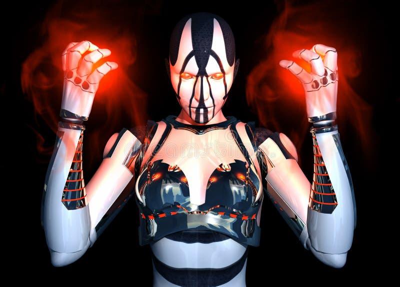 Hoch entwickeltes Cyborgzeichen lizenzfreie abbildung