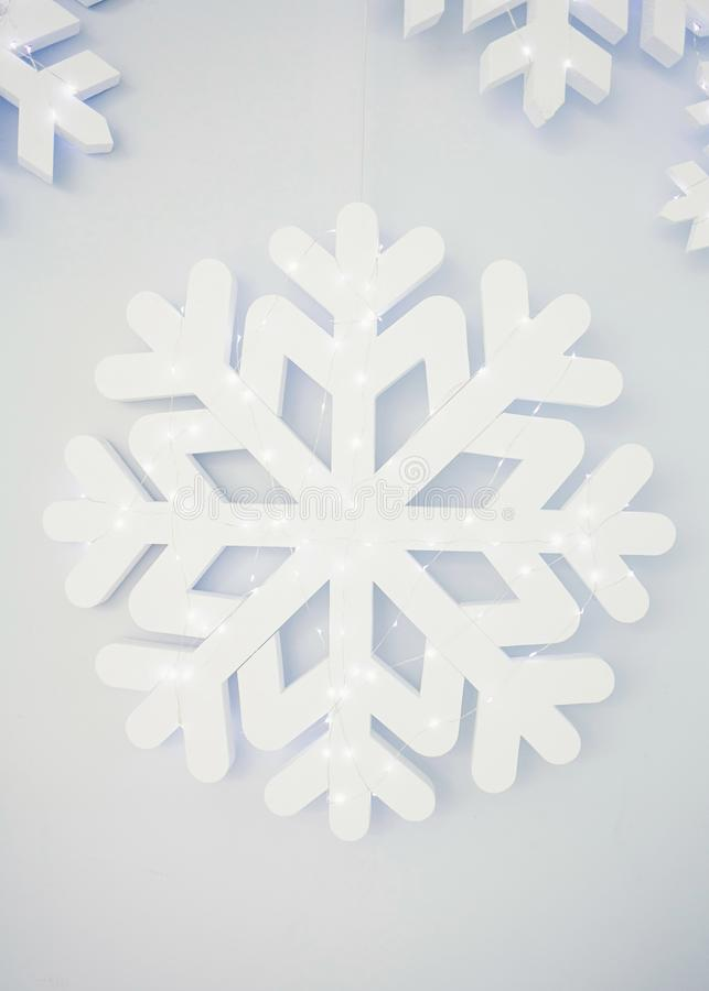 Hochauflösende Schneeflocken lizenzfreie stockfotografie