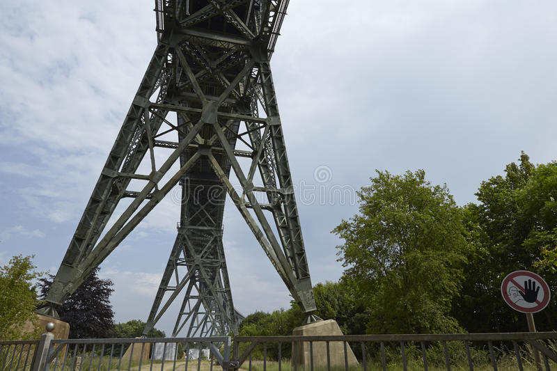 Hochdonn - Bahnbrücke über Kiel Canal lizenzfreie stockfotos
