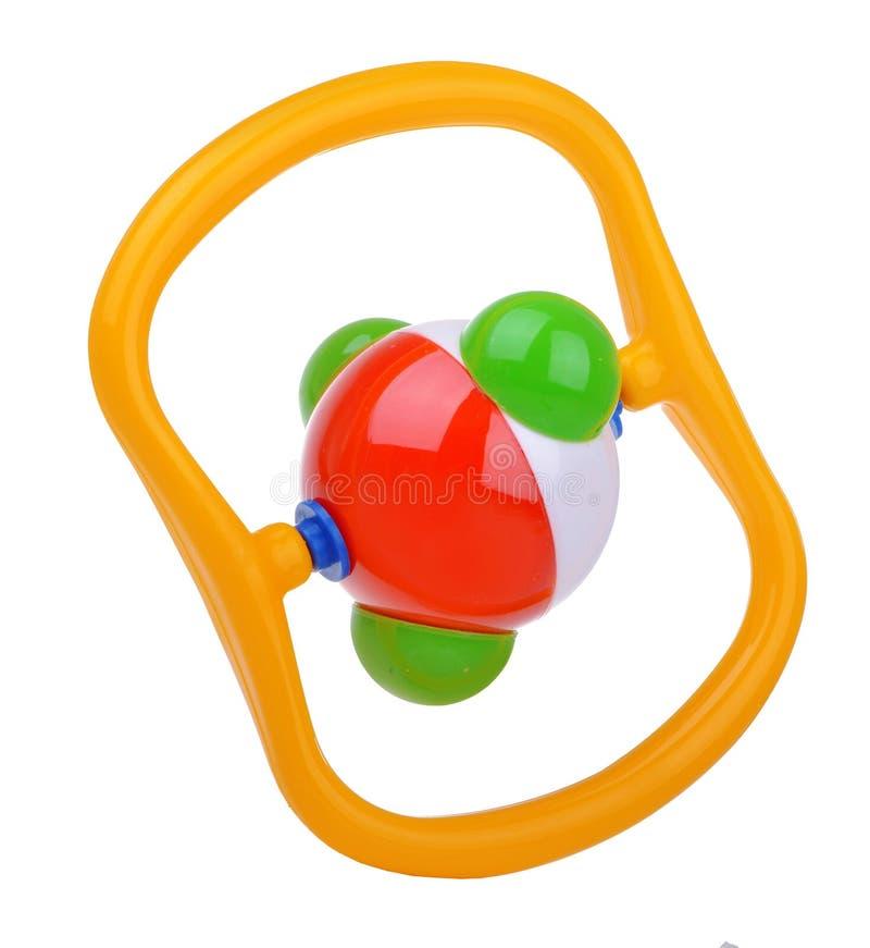 Hochet coloré de molécule de bébé photo stock