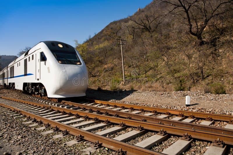 Hochgeschwindigkeitszug in China stockbilder