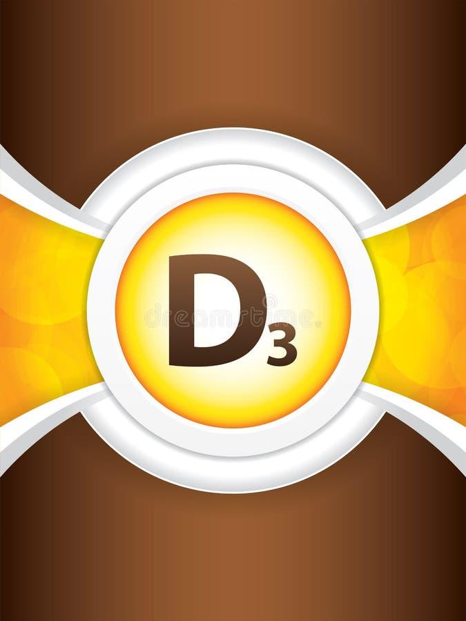 Hochglanzbroschüre des Vitamins D3 vektor abbildung