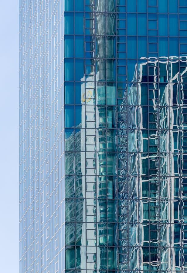 Hochhausgebäudeglas und Metall Frankfurt am Main Deutschland stockbild