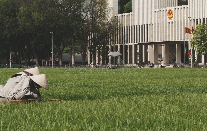 Hochi Minh Monument Hanoi, Vietnam royalty-vrije stock foto's