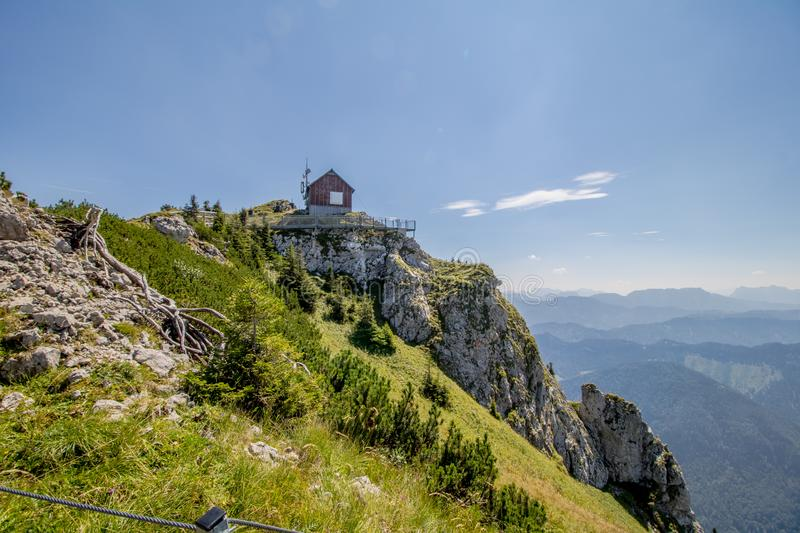 The Hochkar Mountain in Göstlinger Alps in summer, Mostviertel, Lower Austria, Austria. Hochkar 1,808 m is a mountain and a ski area located 150 kilometers 93 stock image