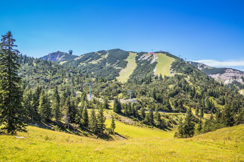 The Hochkar Mountain in Göstlinger Alps in summer, Mostviertel, Lower Austria, Austria. Hochkar 1,808 m is a mountain and a ski area located 150 kilometers 93 stock photo