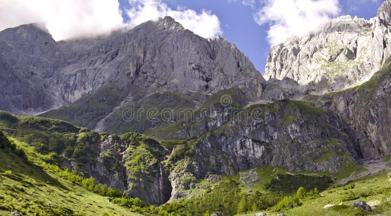 Hochkoenig山在奥地利 库存照片