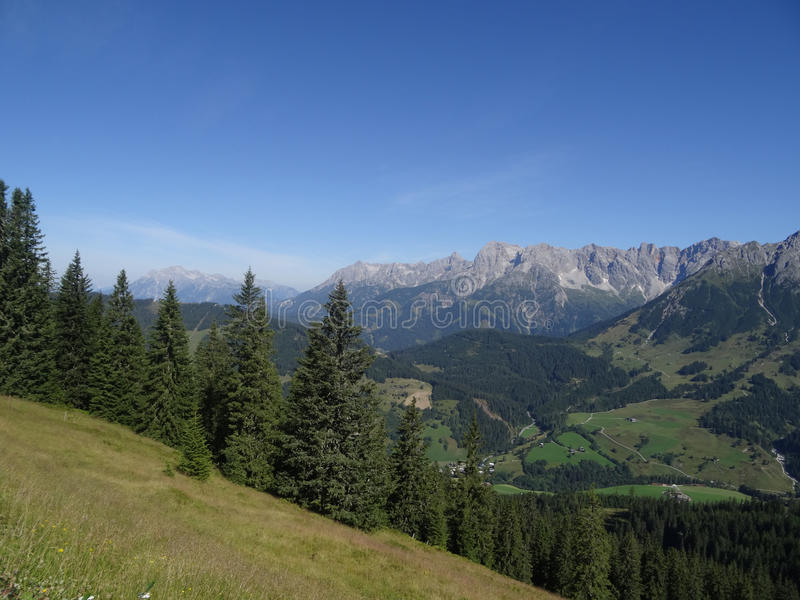 Hochkoenig, Berchtesgadener阿尔卑斯,奥地利 免版税库存照片