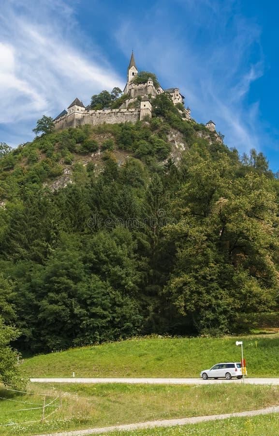 Hochosterwitz城堡-中世纪城堡在奥地利 免版税库存图片