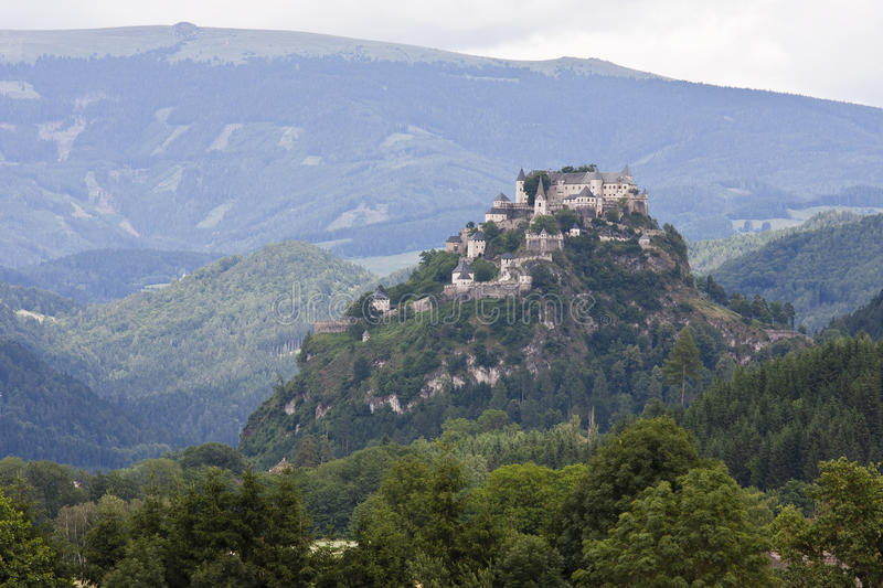 Hochosterwitz Castle in Austrian mountains stock photography