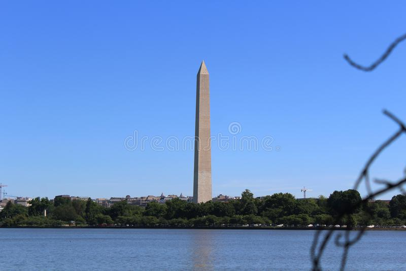 Hochragendes Washington Monument lizenzfreie stockfotos