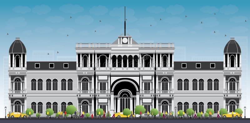 Hochschul- oder Collegegebäude in der klassischen Art vektor abbildung