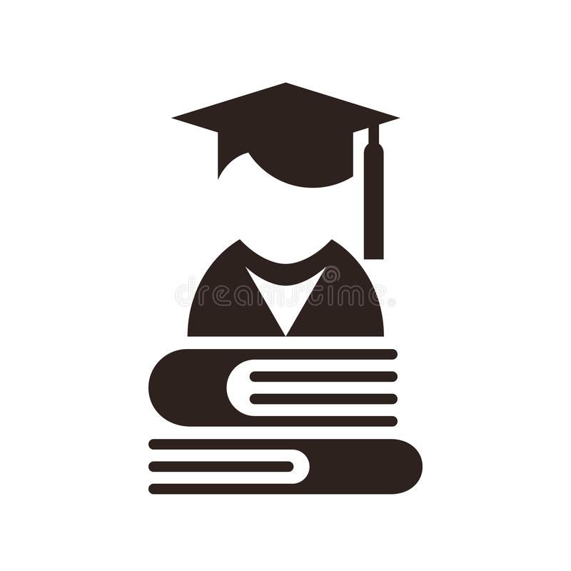 Hochschulavatara Bildungs-Ikone stock abbildung
