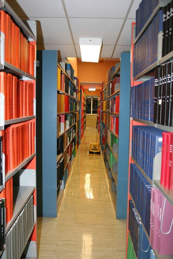 Hochschulbibliotheks-Regale stockfoto