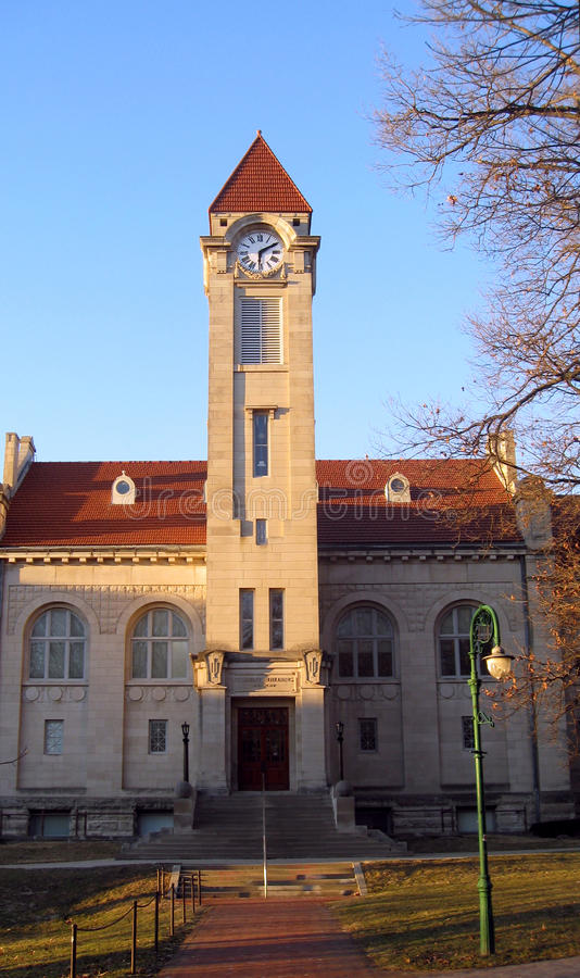 Hochschulbloomington-Campus IU-Indiana stockfoto