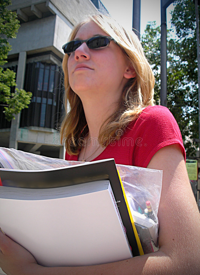 Hochschulmädchen stockfotos