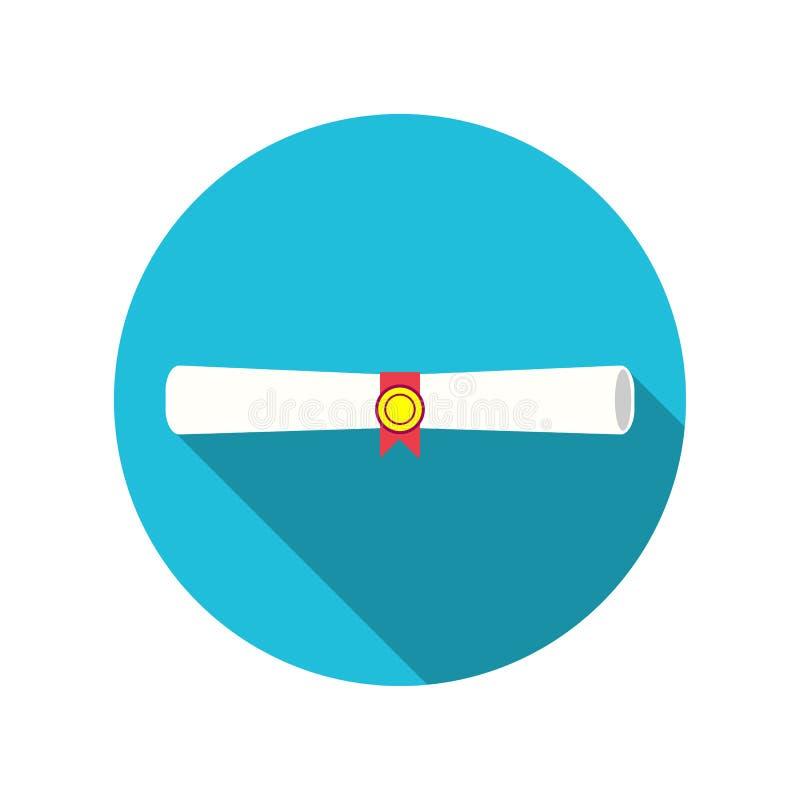 Hochschulstaffelungszertifikat-Vektorikone für Grafikdesign, Logo, Website, Social Media, bewegliche APP, ui Illustration stock abbildung