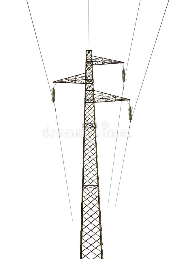 Hochspannung-Stromleitung Gondelstiel lizenzfreies stockfoto