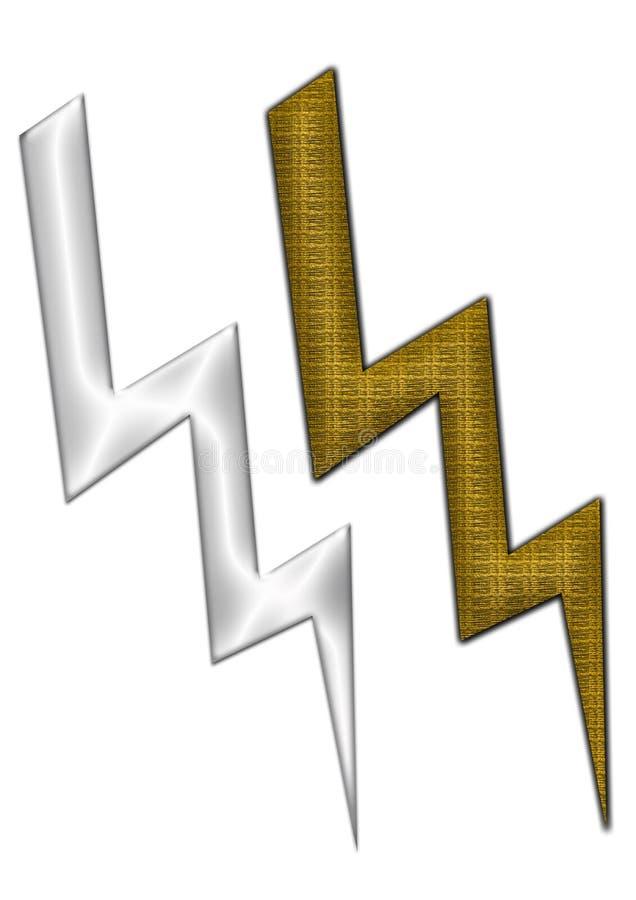 Hochspannungsikonen stock abbildung