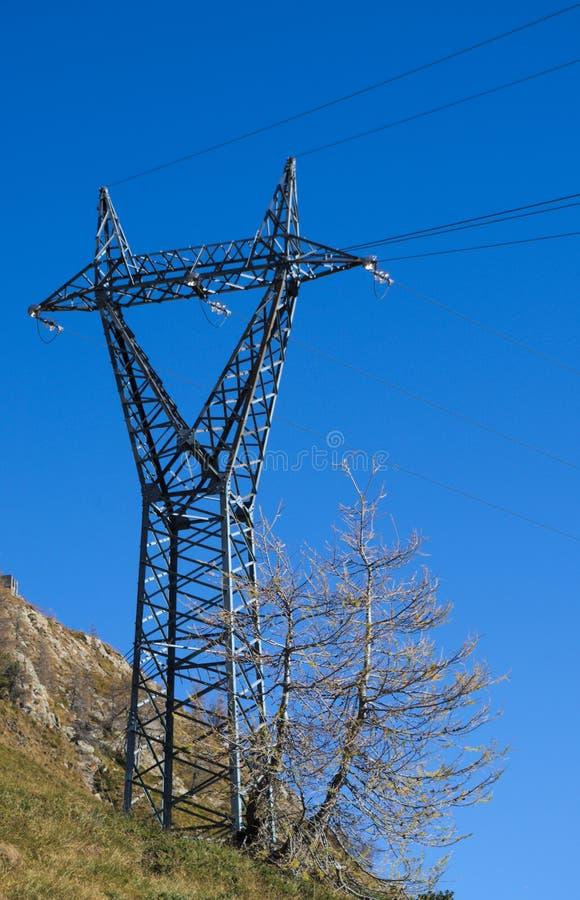 Download Hochspannungsmast stockfoto. Bild von steuerung, blau - 47101352