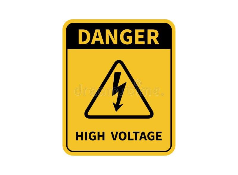Hochspannungszeichen Gefahren-Zeichen Auch im corel abgehobenen Betrag Auf wei?em Hintergrund vektor abbildung