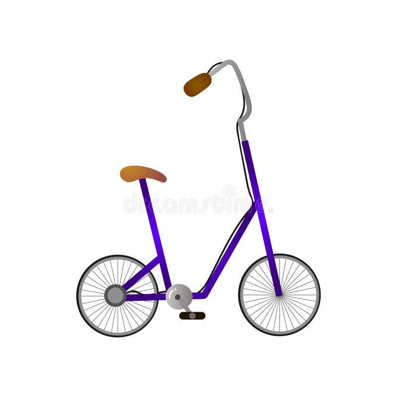 Hochstand und Griff des modernen Fahrrades mit Rädchen lizenzfreie abbildung