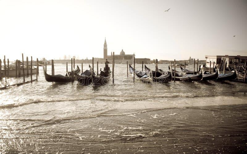 Hochwasser, Venedig lizenzfreie stockfotos