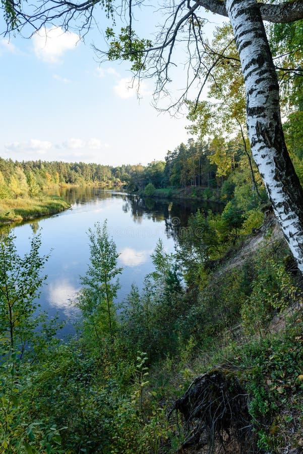 Download Hochwasserniveau Im Fluss Gauja, Nahe Valmiera-Stadt In Lettland S Stockbild - Bild von herbst, teutonic: 106800623