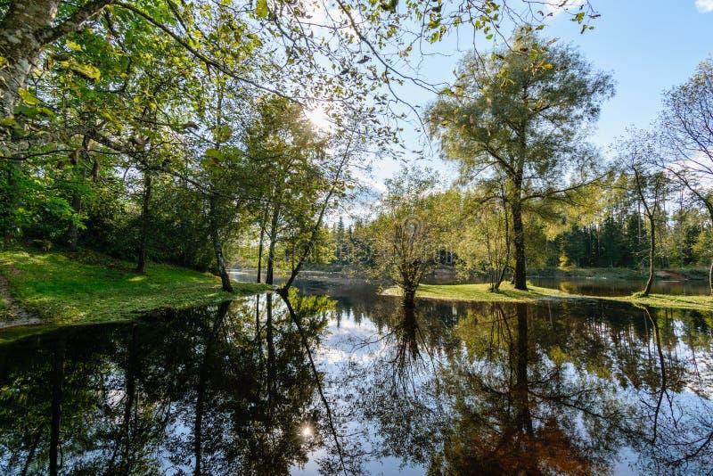 Download Hochwasserniveau Im Fluss Gauja, Nahe Valmiera-Stadt In Lettland S Stockbild - Bild von ritter, busch: 106800625