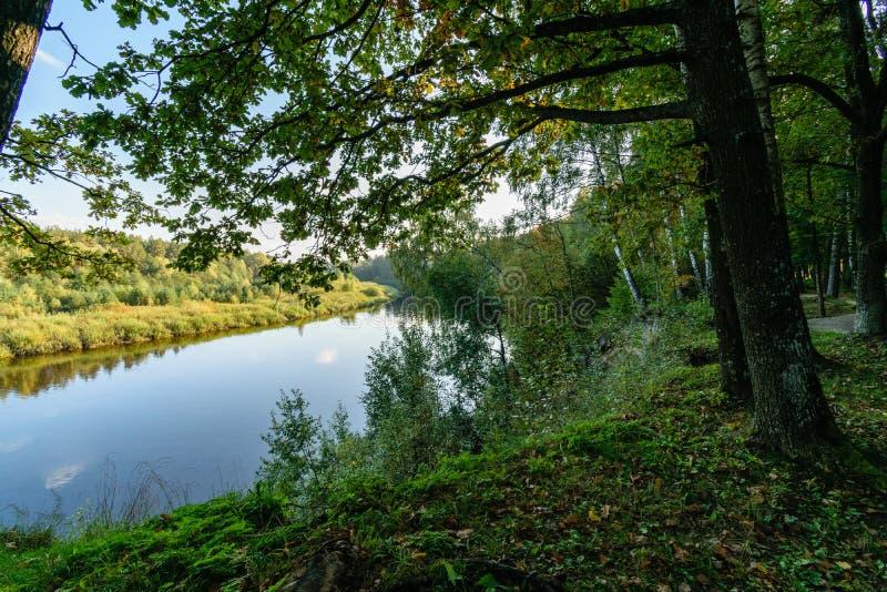 Download Hochwasserniveau Im Fluss Gauja, Nahe Valmiera-Stadt In Lettland S Stockfoto - Bild von braun, sandstein: 106801150