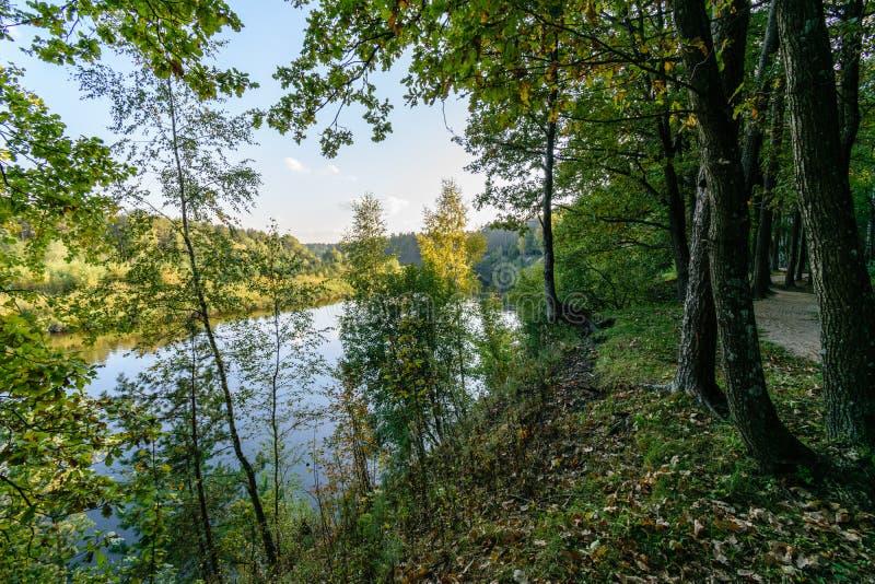 Download Hochwasserniveau Im Fluss Gauja, Nahe Valmiera-Stadt In Lettland S Stockfoto - Bild von park, nantes: 106801198