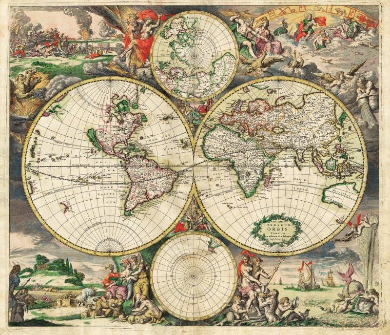 Hochwertige antike Karte vektor abbildung