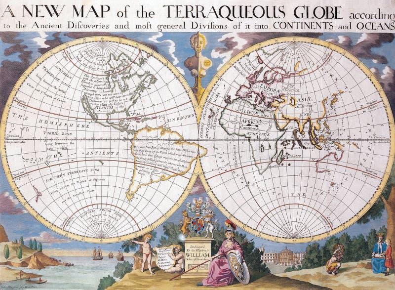 Hochwertige antike Karte lizenzfreies stockfoto