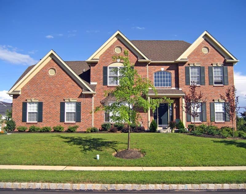 Hochwertiges neues Haus stockfoto