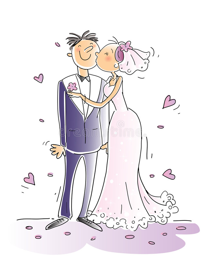 Hochzeit lizenzfreie abbildung