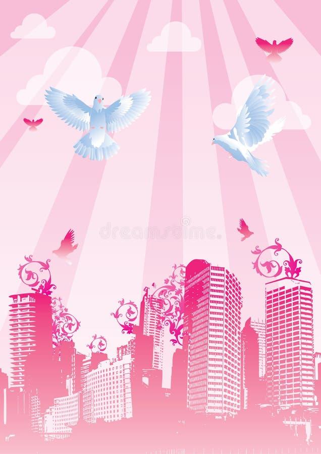Download Hochzeit stock abbildung. Illustration von blau, stadt - 9088535