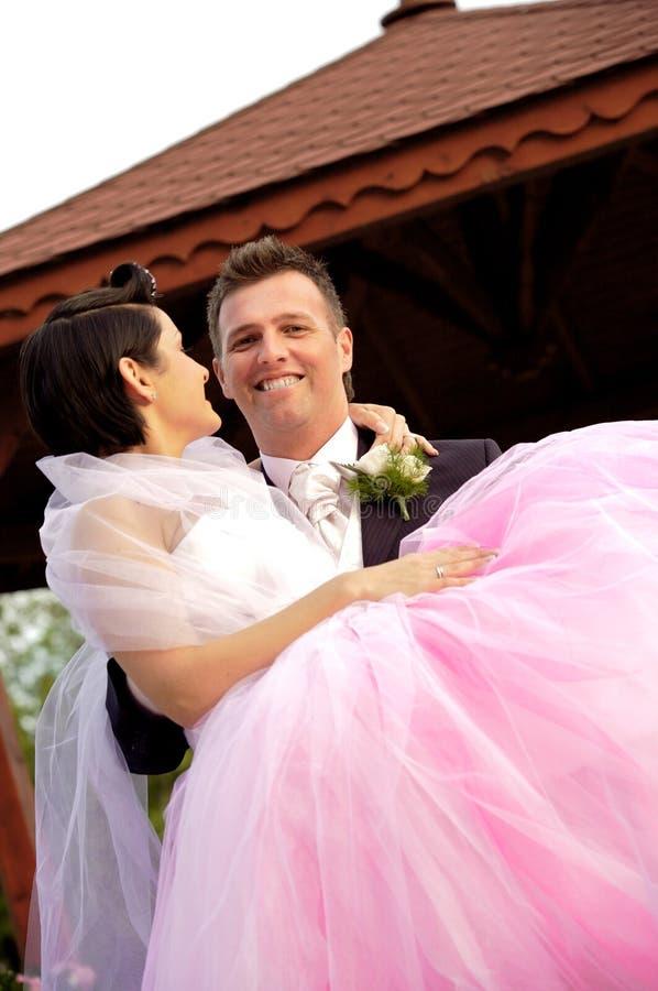 Hochzeit: Braut und Bräutigam lizenzfreies stockfoto