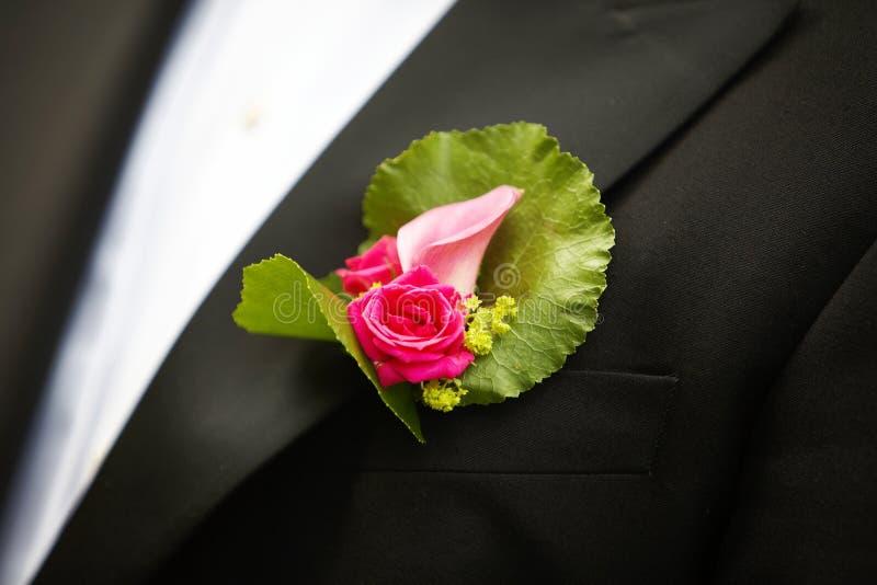 Hochzeit Corsage stockbilder
